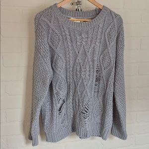 BB Dakota sweater cable knit distressed medium